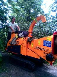 Tree surgery equipment being used in Bristol
