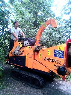 All-terrain chipper used for tree work carried out by Smart Trees Ltd Bristol