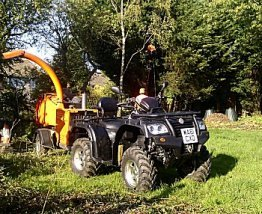 Quad bike used for tree work carried out by Smart Trees Ltd Bristol